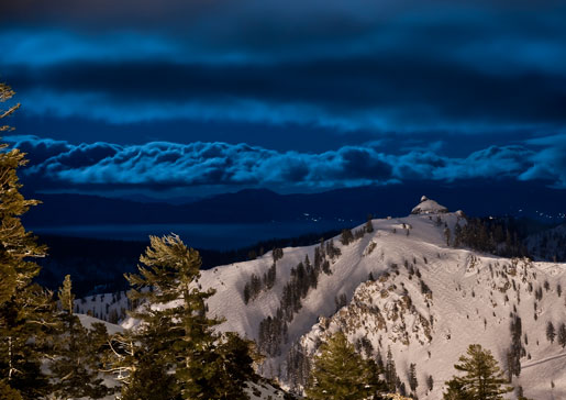 Moonlight on Squaw Valley.