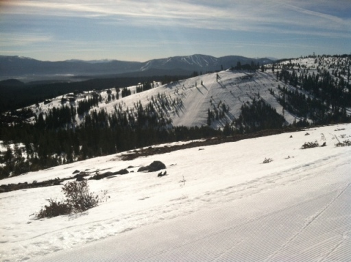 Looking towards Tahoe Donner ski hill