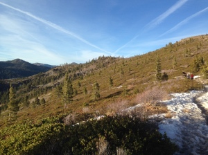 Hiking in January above Donner Lake