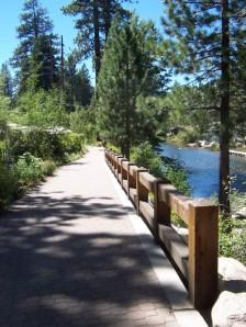 Truckee River bike trail in Tahoe City