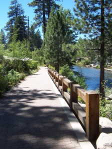 Truckee River bike trail in Tahoe City