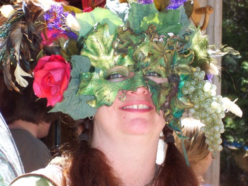 Now THIS is a face mask! Woodland nymph edition. Just perfect for when you throw that next masquerade ball! (Photo by Michelle Portesi)