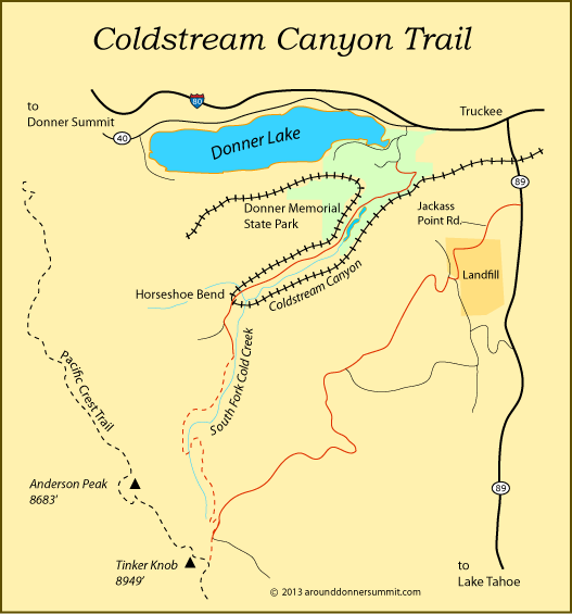 coldstream_canyon_trail map