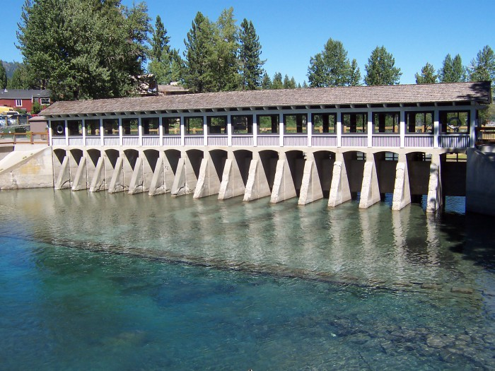 Truckee River Dam in Tahoe City