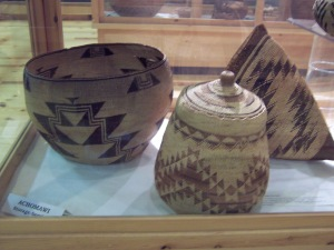 Woven pine needle Indian Baskets