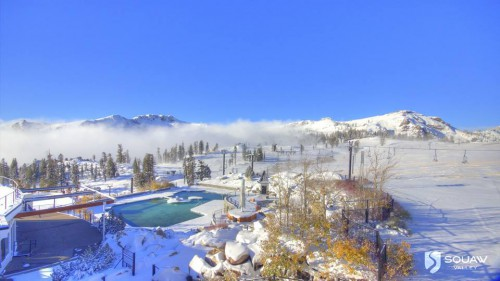 High Camp. Photo from Squaw Valley's Facebook page.  Do you think it might be time to drain the pool?