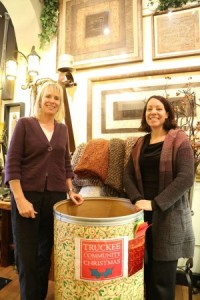 Lynn Richardson and Brooke Bentley at the La Galleria shop in Old Downtown Truckee