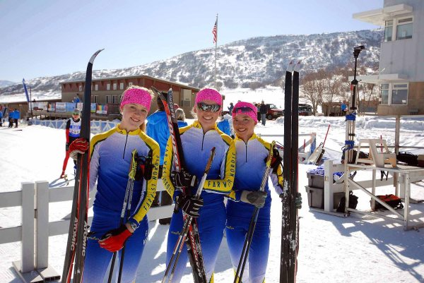 Truckee racers - Gabi, Savannah and Skyler