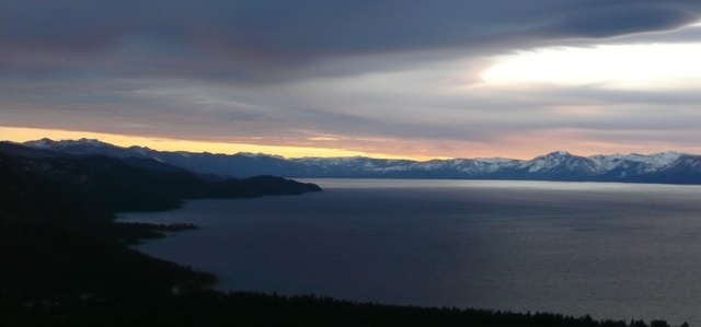 View of east shore of Lake Tahoe from Mt. Rose Hwy. Photo by Tim Hauserman