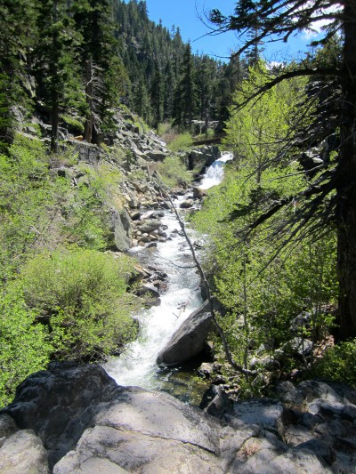 The bridge in the distance at Eagle Falls, Lake Tahoe