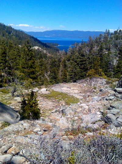 On the Eagle Falls Trail. Emerald Bay and the Rest of Lake Tahoe in the distance.