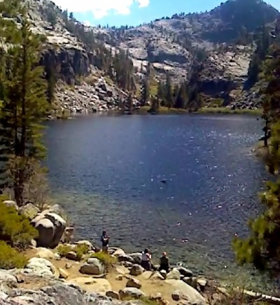 Eagle Lake. Video phone camera shot doesn't do the lake justice!