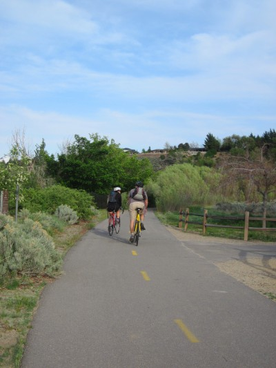 Bike trail at Dorostkar Park  along Mayberry road in Reno.