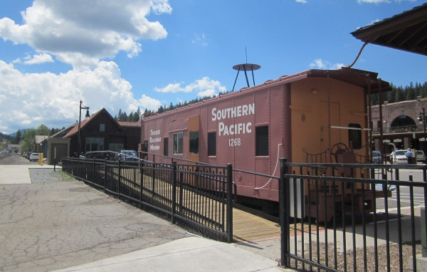 Vintage train at the Truckee Train Station