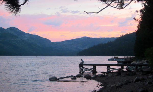 Sunset over Donner Lake. Photo by Michelle Portesi