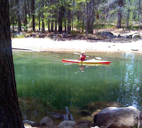 Kayaking at Donner Lake. Photo by Michelle Portesi