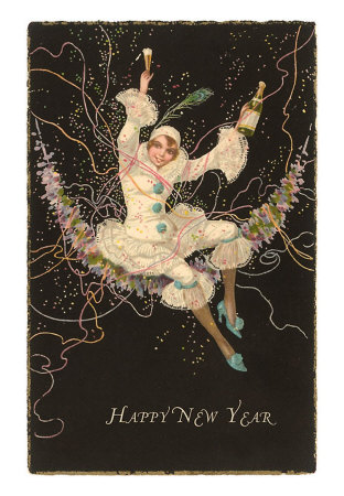 happy-new-year-clown-lady-with-champagne